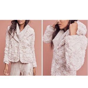 f9d6f645e6 ... Anthropologie Glacie Faux-Fur Jacket by Tiny Sz M ...